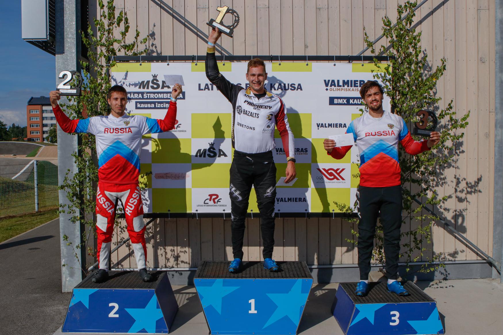 Babris aizraujošā cīņā Valmierā uzvar BMX Latvijas kausa 1. posmā