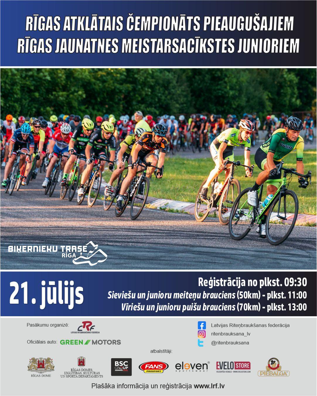Trešdien notiks pirmais Rīgas atklātais čempionāts šosejas riteņbraukšanā