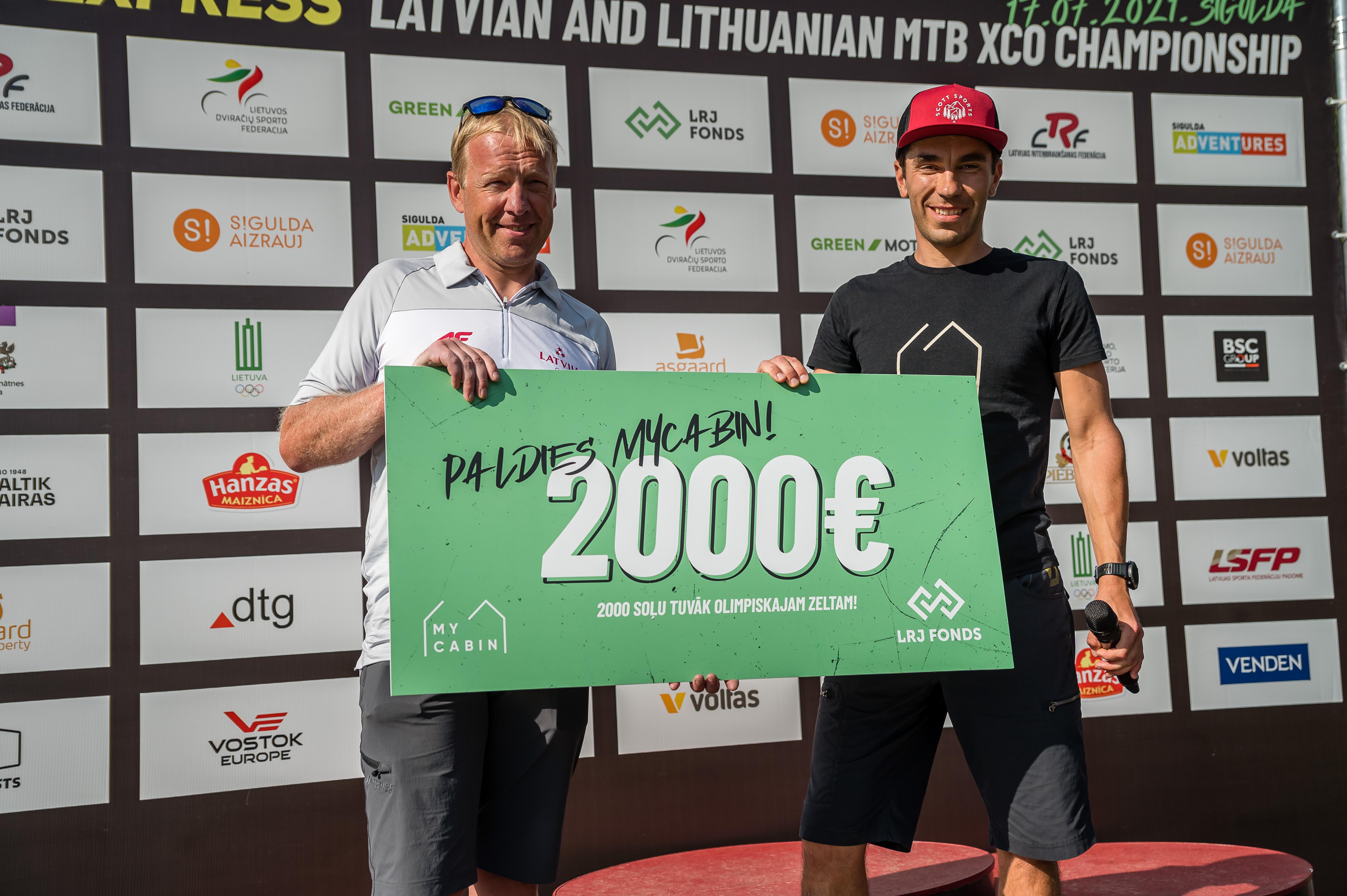 """""""MyCabin"""" ziedo 2000 EUR Latvijas jaunatnes riteņbraukšanas fonda attīstībai"""