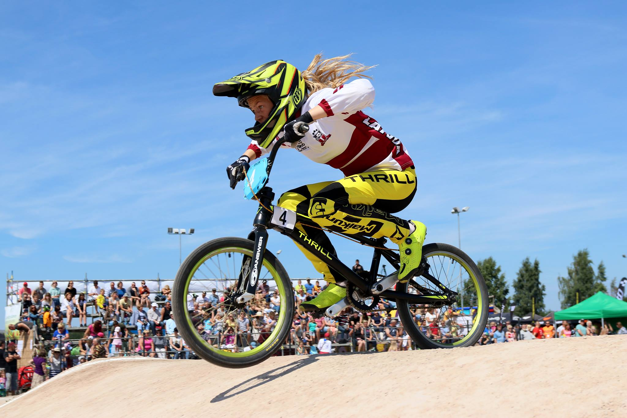 Glāzere izcīna 11. vietu pasaules čempionātā BMX juniorēm