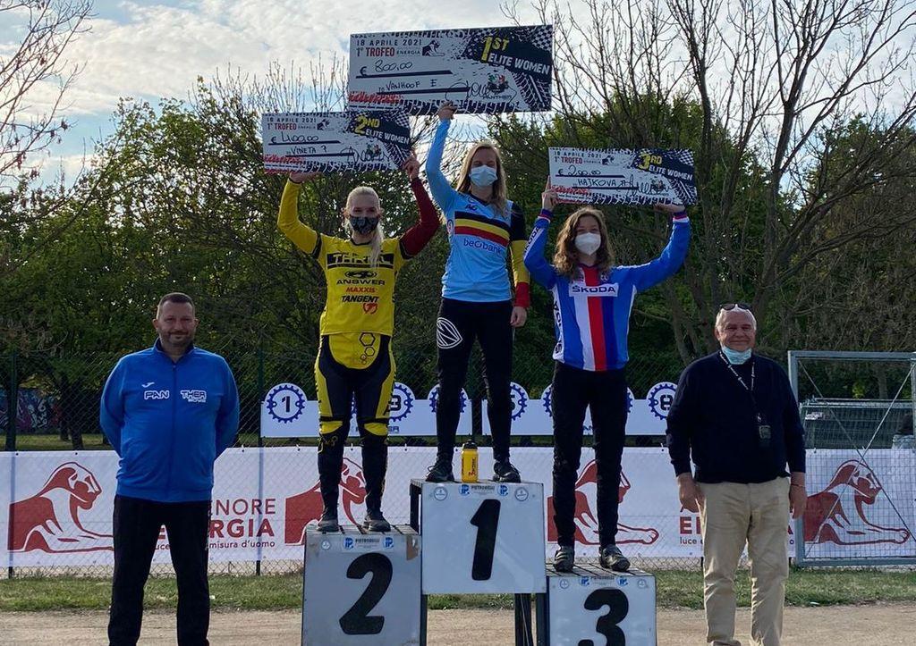Pētersonei otrā, Babrim sestā vieta UCI C1 līmeņa BMX sacensībās Itālijā